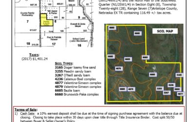116.49 +/- acres of pasture with good fences, water ponds and road access.