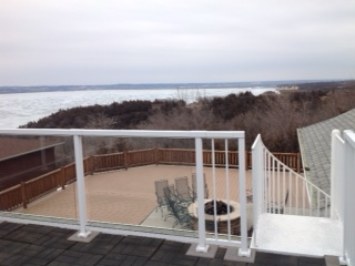 1 Riverview - upper deck and steps to lower deck