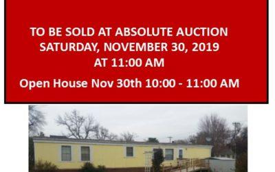 401 Oak St., Laurel, NE  68745   1,120 sq. ft.; 2 bdrm; 2 bath; To Be Sold at Absolute Auction – Sat., Nov 30, 2019 at 11:00 AM