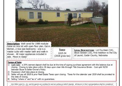Roland, Violet Estate sale bill