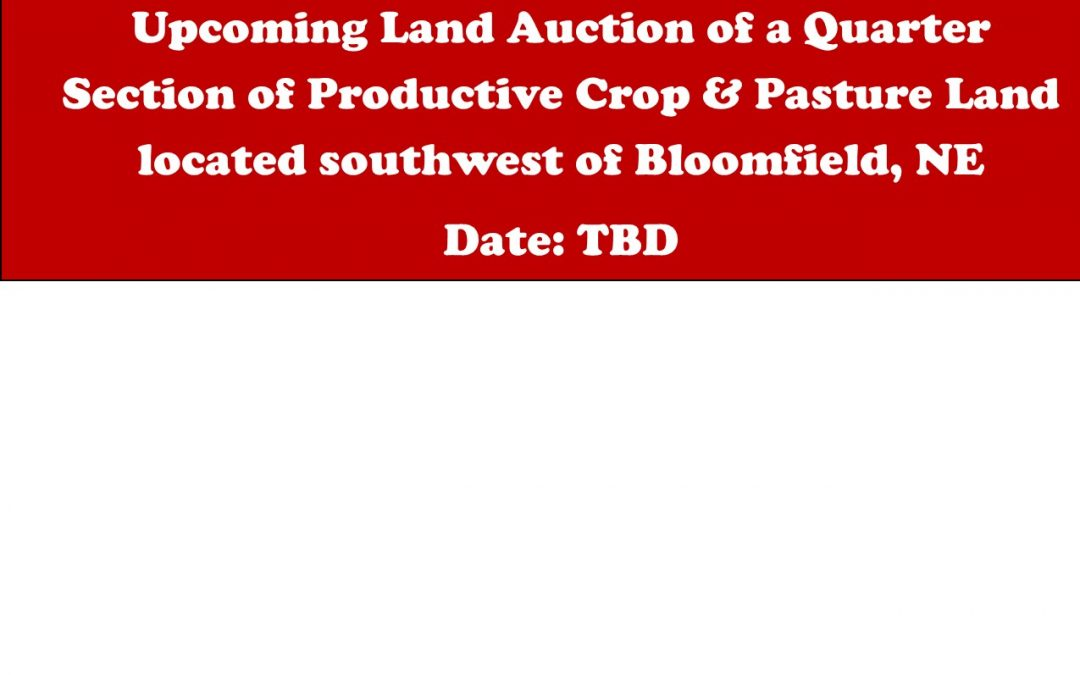 Upcoming Land Auction – date TBD