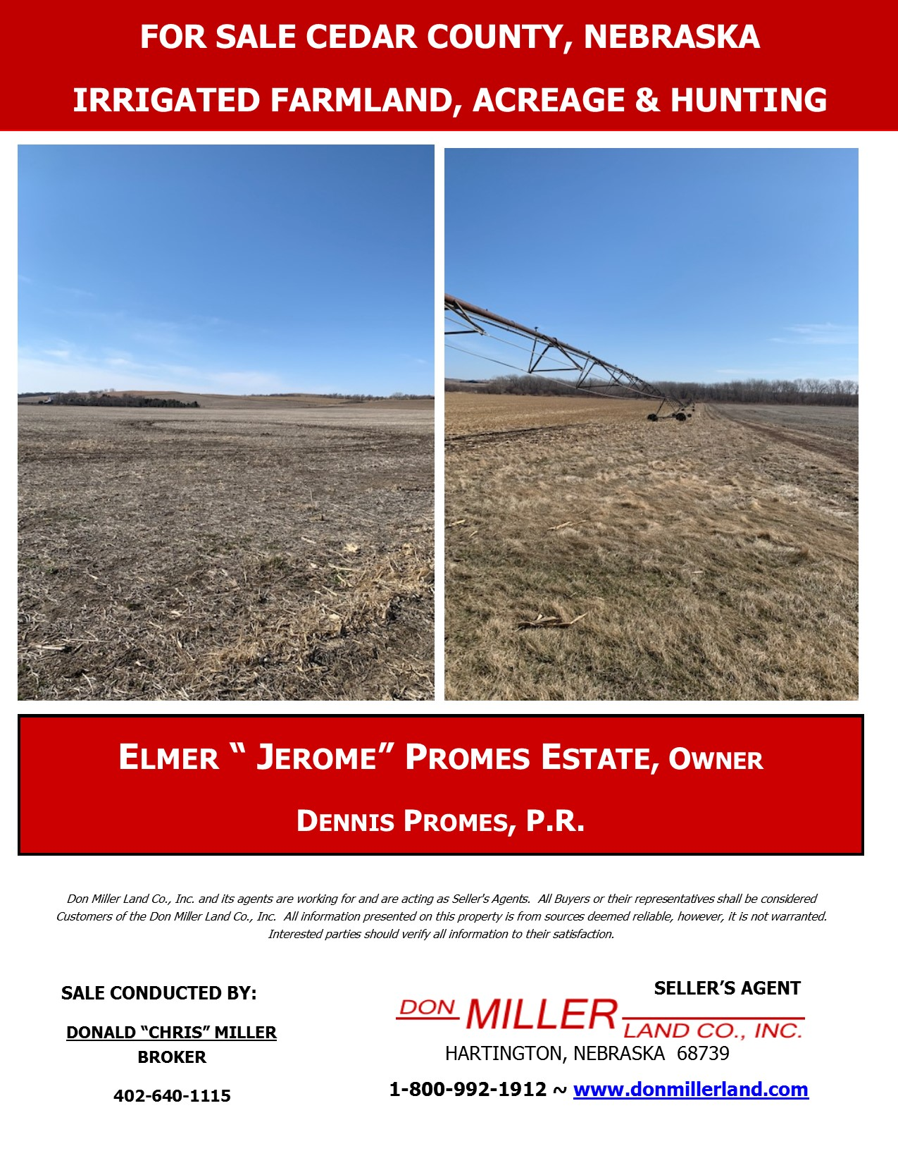 Sale Bill (Elmer J. Promes) Folded Pg 1