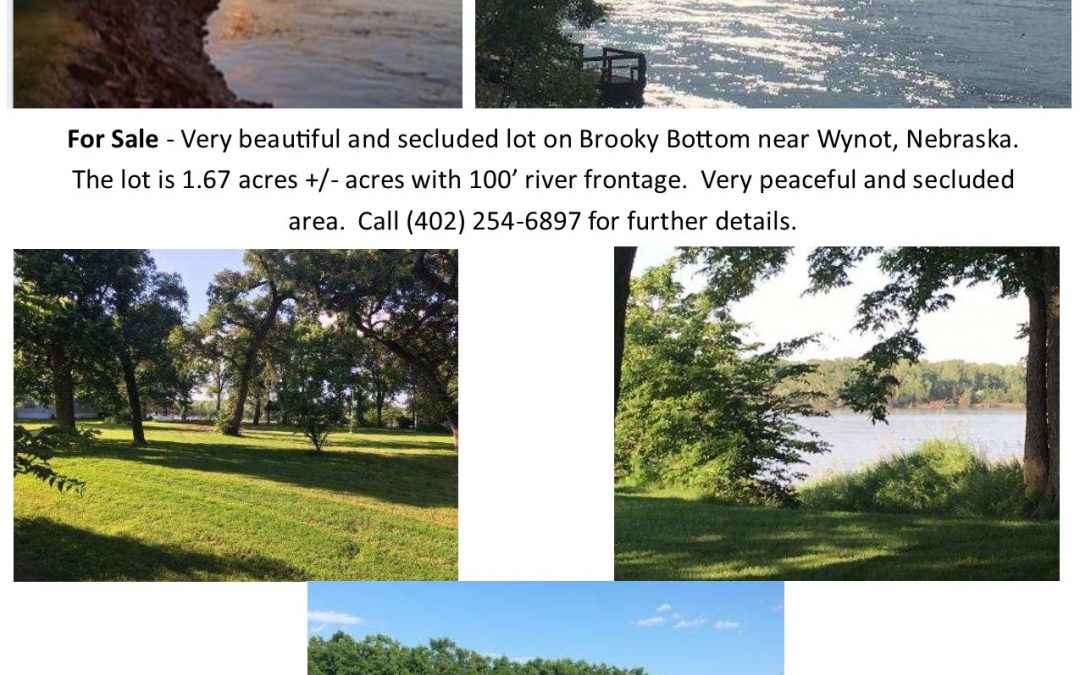 River Front Living Lot For Sale $125,000